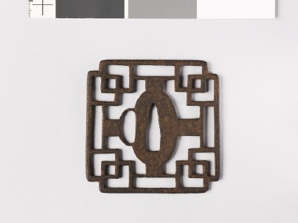 Tsuba with overlapping squares