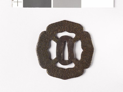 Tsuba with wave pattern