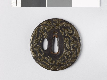 Tsuba with 'stick-lac' decoration