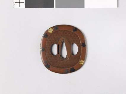 Tsuba with family crests of the Aoyama of Sasyama and the Hosokawa of Higo