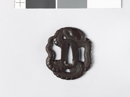 Mokkō-shaped tsuba in the form of a coiled snake