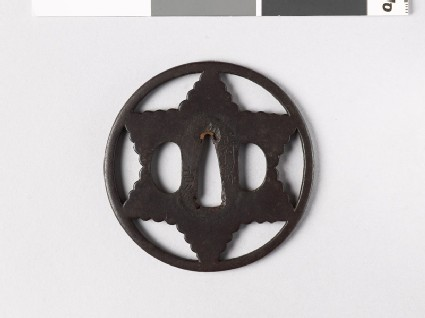 Tsuba in the form of a six-pointed star
