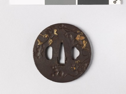Tsuba with grape vine