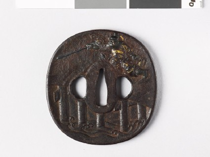 Tsuba depicting Shōki the Demon Queller