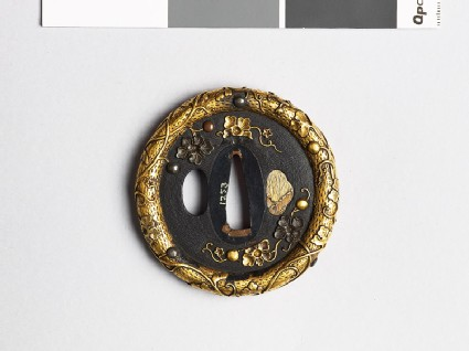Tsuba with gourd vine and fruits