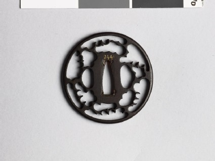 Tsuba with karigane, or flying geese