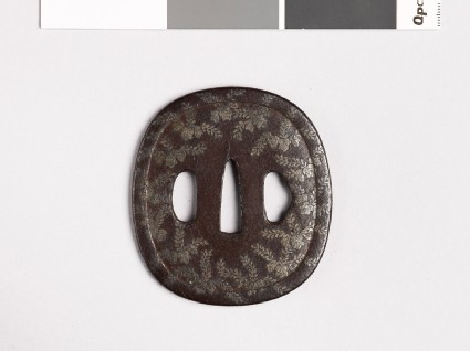 Tsuba with kiri, or paulownia, leaves