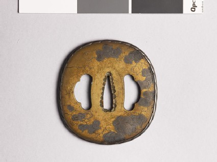 Tsuba with smilax tendrils