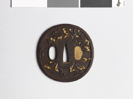 Tsuba with clematis trails