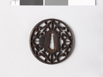 Tsuba with matsukawa-bishi, or overlapping lozenges
