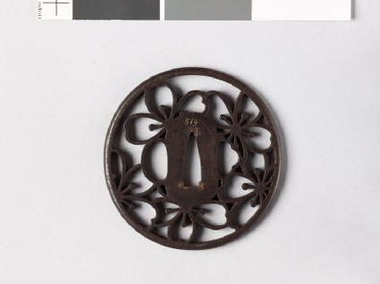 Tsuba with cherry blossoms