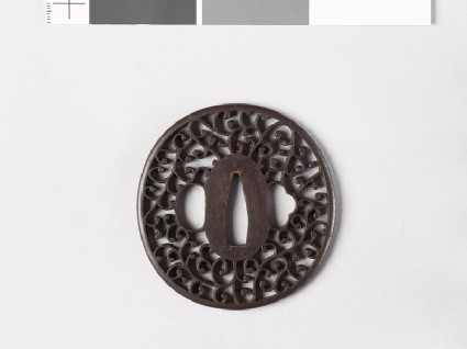 Tsuba with scrolling stems