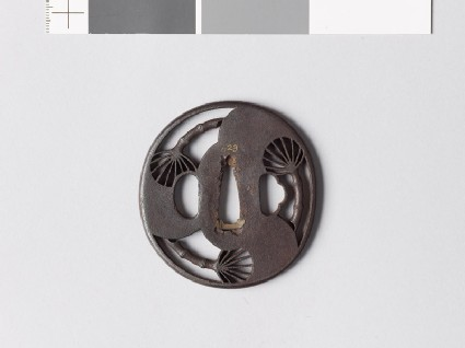 Tsuba with three fans
