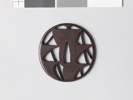 Tsuba with five sails