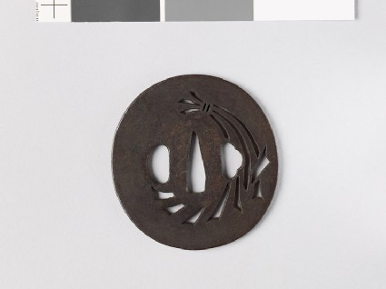 Tsuba with noshi, or auspicious abalone