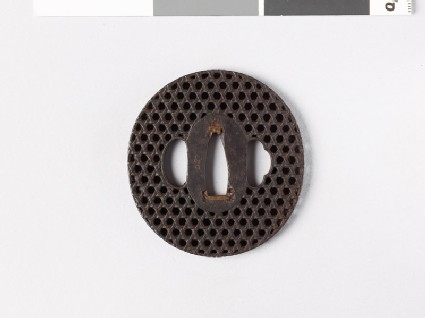 Tsuba with basketwork decoration