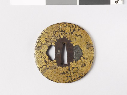Tsuba with asters, lespedeza, and gentian
