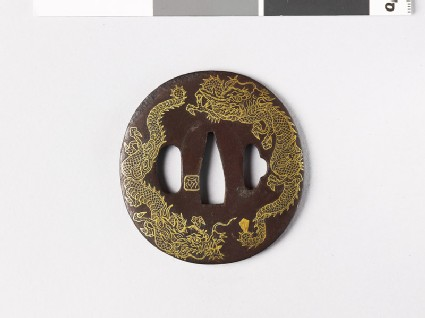 Tsuba with three dragons