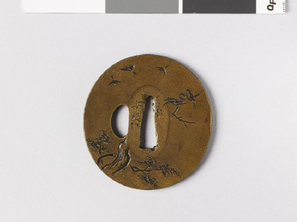 Tsuba with flying birds