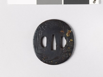Tsuba depicting two of the Seven Sages of the Bamboo Grove