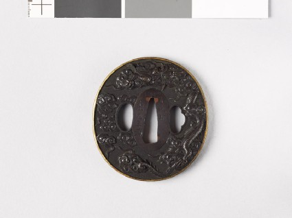 Tsuba with dragon and clouds