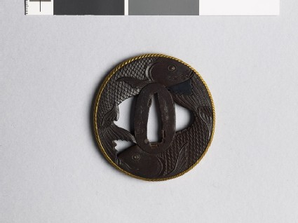 Tsuba in the form of two carp