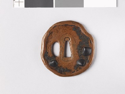 Tsuba with cockleshells and waterweed