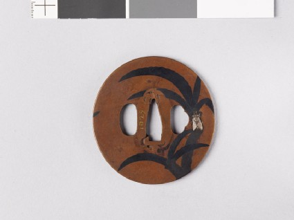Tsuba with palms and a cicada