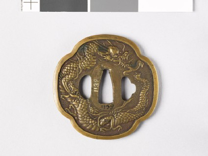 Tsuba with dragon