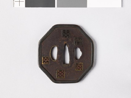 Octagonal tsuba with square piercings