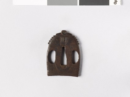 Tsuba in the form of a Buddhist temple bell
