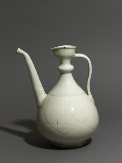 Ewer with incised floral decoration