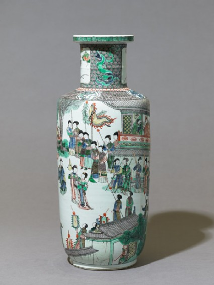 Vase with theatrical scene