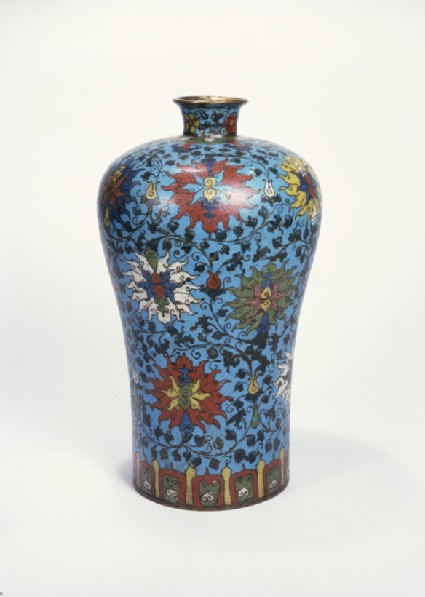 Meiping vase or bottle with floral design
