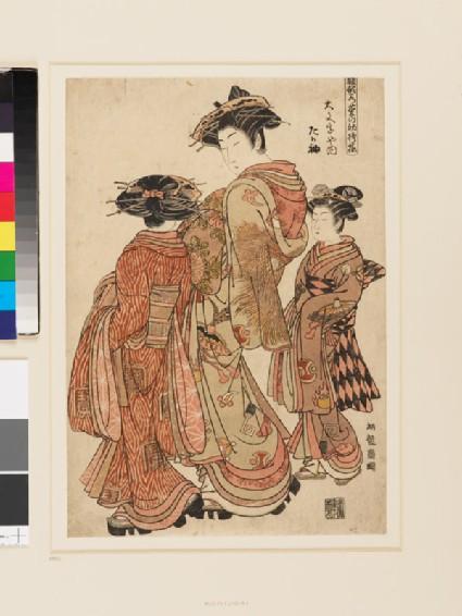 The Courtesan Tagasode of Daimonji-ya