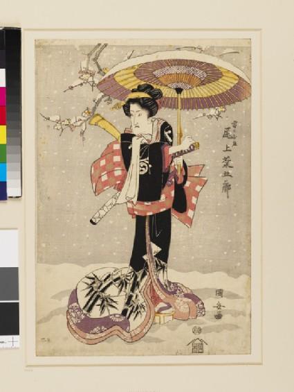 Onoe Kikugorō as Kaminari no Oshō