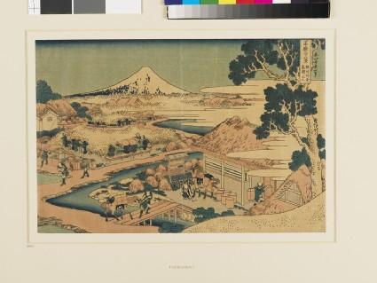 Fuji from the Tea-Fields of Katakura in Suruga