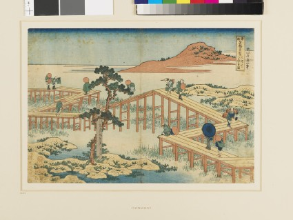 Ancient View of the Eight-Part Bridge at Mikawa