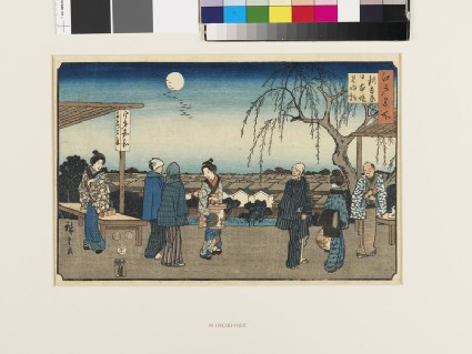 The Willow Tree of Farewells to Guests at Nihon Embankment in the New Yoshiwara