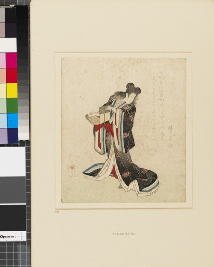 A courtesan as the Chinese monk Kanzan