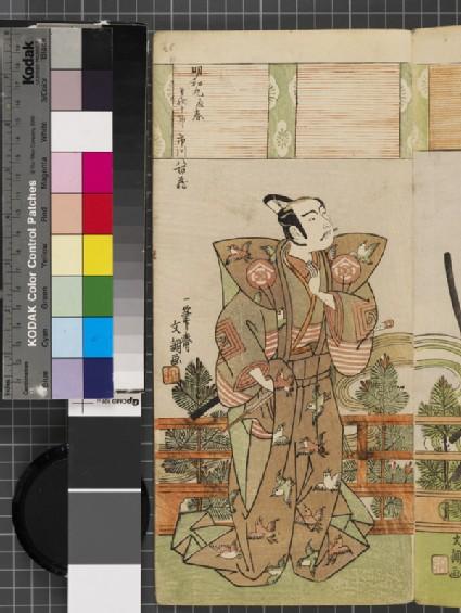 Ichikawa Yaozō II as Soga Jūrō