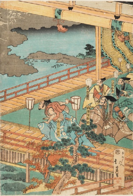 The ghosts of the Minamoto appearing in Fukuhara Palace
