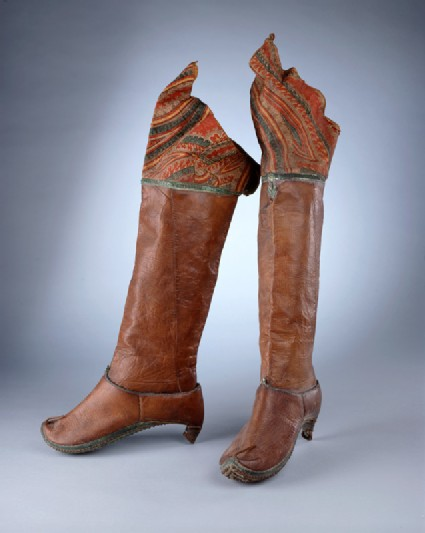 Left riding boot