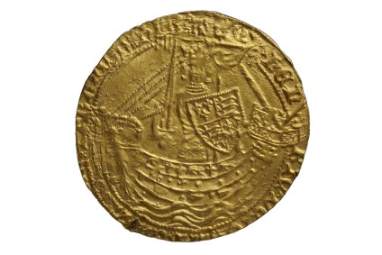 English gold coin of Henry IV