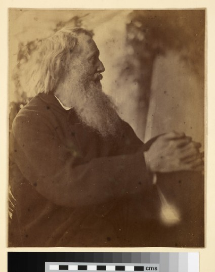 Sir Henry Taylor seated in profile