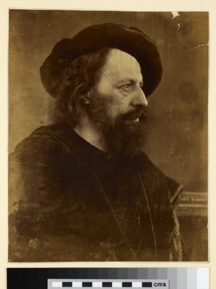 Portrait of in profile Alfred Tennyson