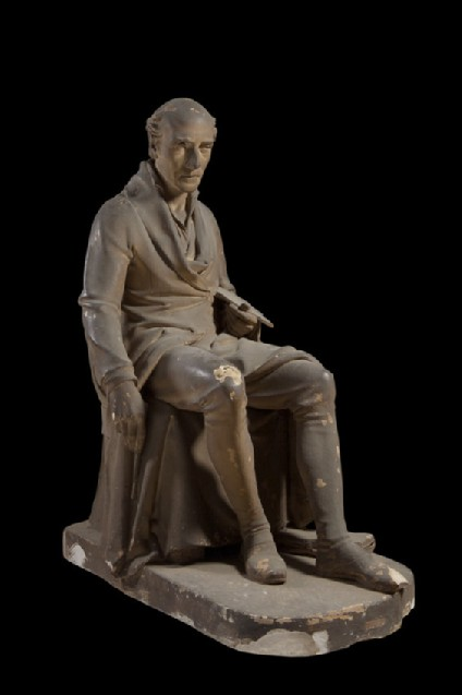 Statue of James Northcote RA (1746-1831), seated