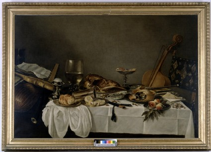 Still-Life on a Table with Musical Instruments