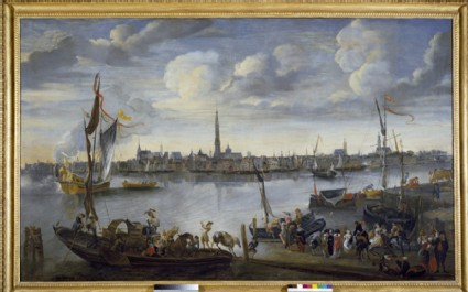 View of the Roads of Antwerp from the left bank of the River Schelde