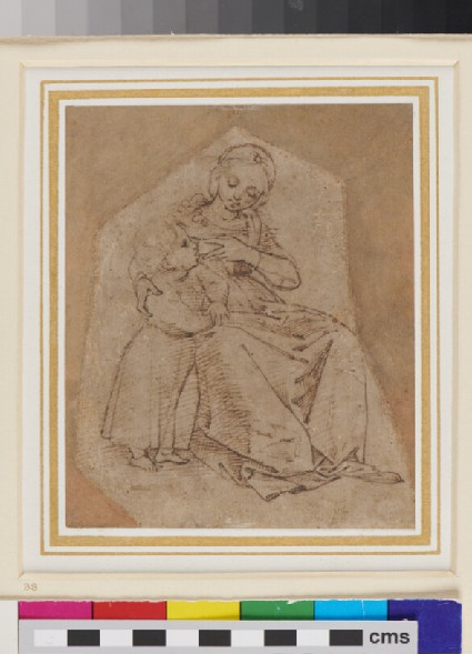 Recto: A Mother and Child<br />Verso: The back of a Man's Head and Shoulders